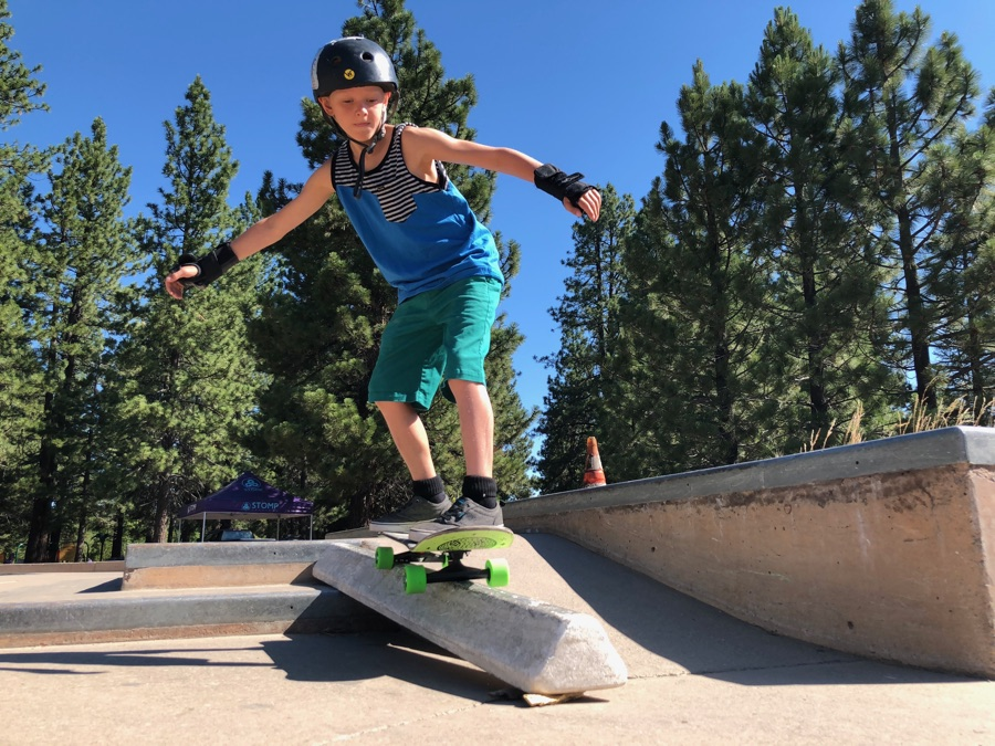 Truckee summer skate rail down