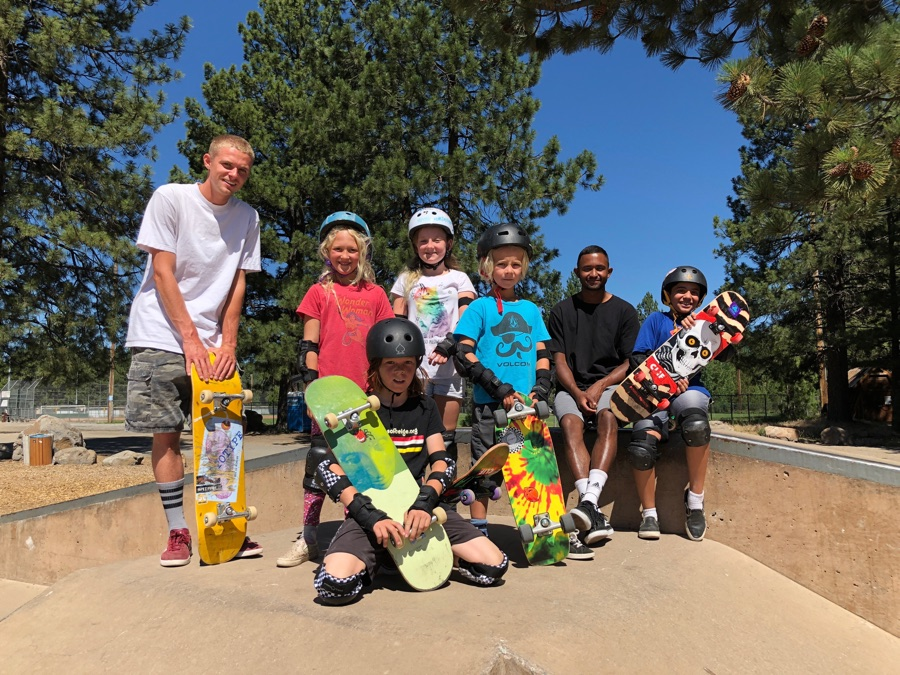 Group truckee summer skate